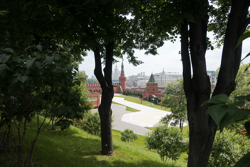 Park and garden area inside the Kremlin in Moscow.