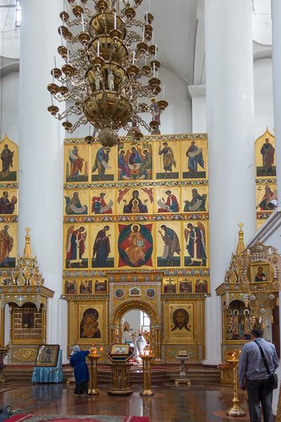 A look inside the church in Yaroslavl, Russia.