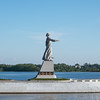 Mother Volga statue, River Volga, Rybinsk Reservoir, Volga-Baltic Waterway, Russia.