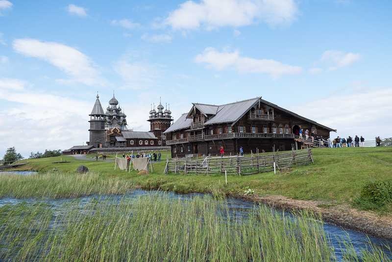 Wooden structures on Kizhi Island.