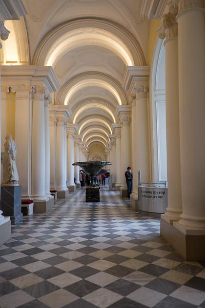 A corridor in the Hermitage Museum, Saint Petersburg, Russia.