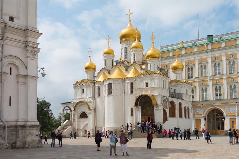 Church on the Kremlin grounds.