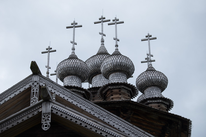 Detail of the crosses used on the church on Kizhi Island.