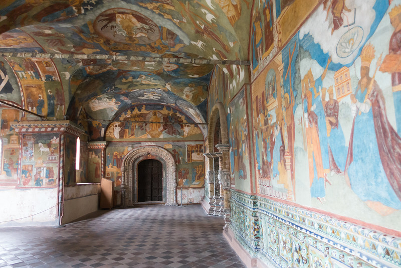 Inside the church of Saint Dimitri on the Blood in Uglich, Russia.