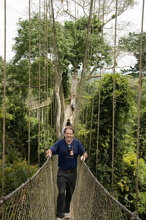 Tom (IRD consultant) on the canopy walk