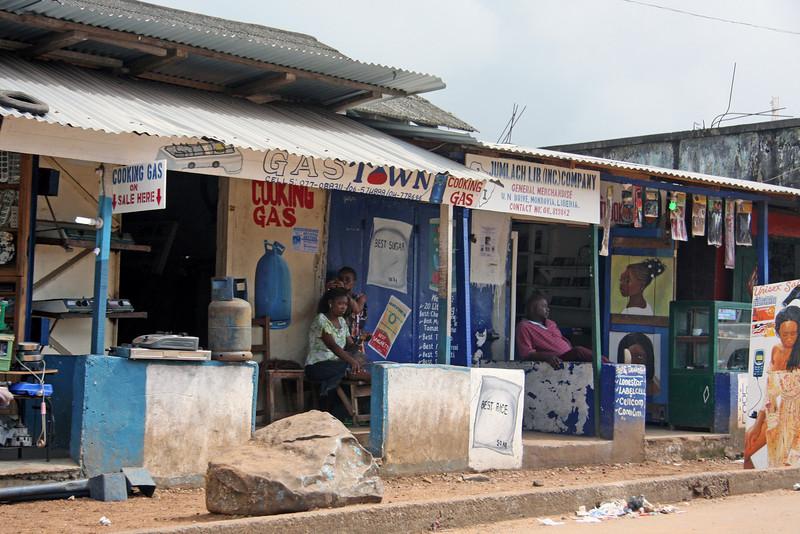 Monrovia scenes.