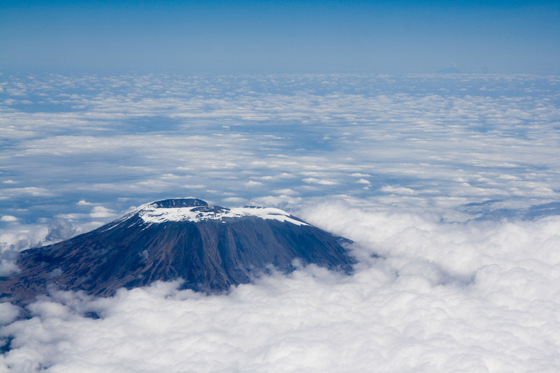 Flying over Mt. Kilimanjaro on our way to Zanzibar!