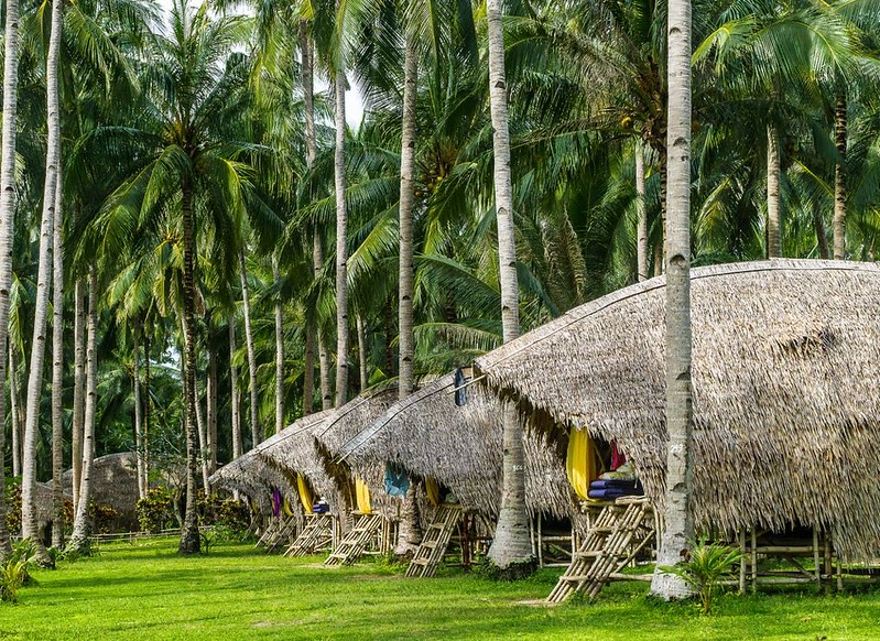 TAO Expedition huts in the Philippines