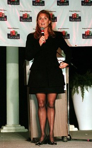 Sarah, The Duchess of York was the guest speaker for Weight Watchers during the Michigan International Women's Show at the Novi Expo Center.
