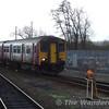 150261 enters the depot. Sat 13.01.07