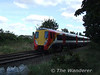 Pioneer 8001 passes Kneller Gardens with a Waterloo - Reading service. Tues 18.09.07