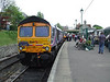 66724 prepares to leave Swanage with a train to Norden. Fri 09.05.08