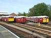 Line up of 38 tube stock at St. John's Road depot. Sun 11.05.08