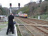 Then the train drew forward into the Up Platform at Bangor ready to form the 1443 to London. Fri 25.01.08
