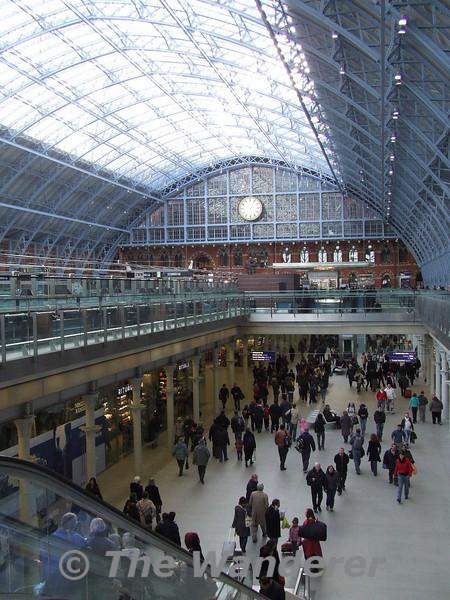 The impressive St. Pancras Internation Station, the new home of Eurostar. Sat 26.01.08