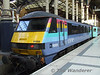 90008 awaits time with the 1130 Liverpool St - Norwich. Sat 26.01.08