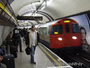 Bakerloo line train at Baker Street. Sat 26.01.08