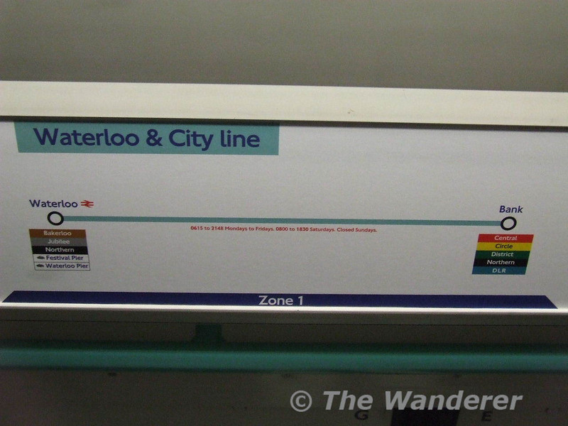The Waterloo and City Line Map. Sat 26.01.08