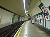 A deserted platform at Colliers Wood. Sun 18.10.09