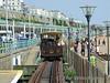 The Volks Electric railway at Brighton. Car No. 9 leaves Aquarium. Sun 24.05.09