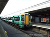 377449 at Portsmouth with the 1205 service to Brighton. Sun 24.05.09