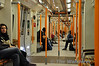 Interior of the Class 378. These trains feature full width gangways. Sat 20.11.10