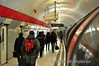 Passengers leave the train at Liverpool Street. Sat 20.11.10