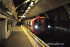A new 09 stock train for the Victoria Line arrives at Green Park. Car 11026 is leading. Sat 20.11.10