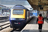 HST leaves Newport for Cardiff. Thurs 13.05.10