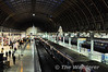 Looking down on the Heathrow Express units at London Paddington.  Mon 17.10.11
