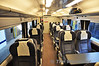 Interior of the First Class coach on unit 2419. Mon 17.10.11