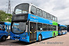 """We didn't know it at the time but this picture became history a few hours after it was taken. Ensignbus Fleet No. 501 is the former Dublin Bus Prototype Hybrid Bus WH1. See <a href=""""http://www.flickr.com/photos/be216cd1/5539238793/"""">http://www.flickr.com/photos/be216cd1/5539238793/</a> for a picture of it in Dublin Bus Service. The Bus was spare at Lakeside Shopping Centre when the picture was taken. Upon return to the Depot after a period of about 30 minutes the Bus unfortunately caught fire and was totally destroyed. See <a href=""""http://www.flickr.com/photos/essex999/7356768184/in/photostream"""">http://www.flickr.com/photos/essex999/7356768184/in/photostream</a> for the inferno. Sat 09.06.12"""