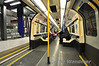 Interior of the 73 Stock used on the Piccadilly Line. These were refurbished in the mid to late 1990's and still look very fresh. Sat 09.06.12