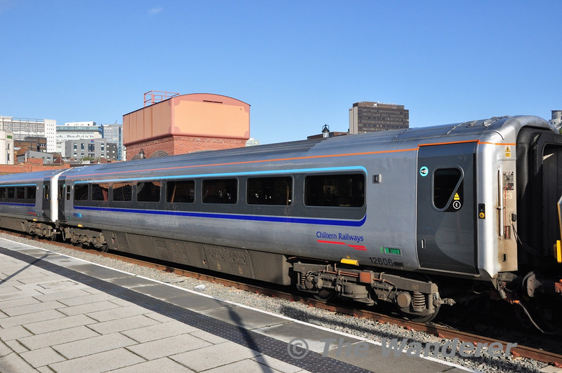 MKIII Vehicle 12606 at Birmingham Moor Street. Note the plug doors.  Wed 17.10.12