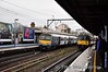 360107 leads a sister unit into Chelsmford with the 0952 Ipswich - London Liverpool Street. Thurs 19.01.12