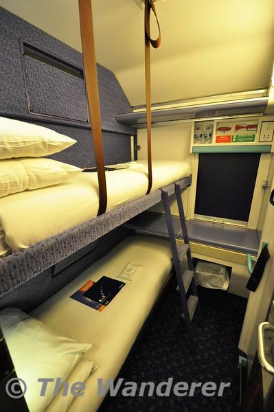 A MKIII Sleeping Berth set up for Double Occupancy. Fri 08.06.12