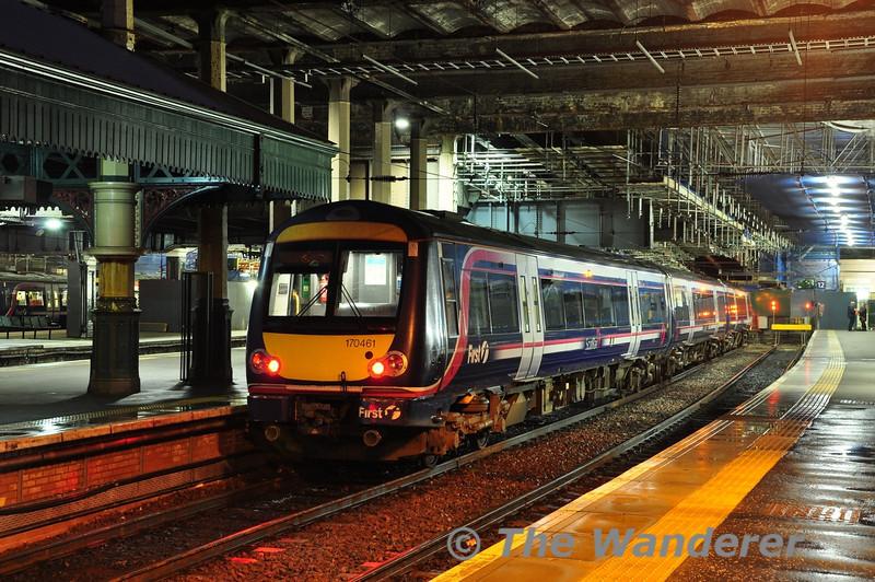 170461 awaits its next duty at Edinburgh Waverley. Fri 08.06.12