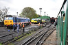 A busy scene at Ropley Shed with 50027, D1501, 37905 and 45032 all on shed. Sat 27.04.13