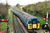 3417 being propelled by 33109 arrives at Ropley.  Fri 26.04.13