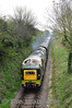 D9009 at Bighton Lane Bridge. 1050 Alton - Alresford. Sat 27.04.13