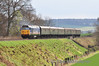 50027 powers up the grade from Ropley with the 1545 Alresford - Alton. Sat 27.04.13