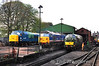 Ropley Shed with 45032 (not in use), 50027 and 37905.  Fri 26.04.13