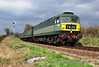 D1501 makes a powerful sight as it passes Northside Crossing while in charge of the 1105 Alresford - Alton. Sat 27.04.13