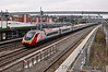 390124 passes Tamworth at speed with the 0930 London Euston - Glasgow Central service. Thurs 25.04.13