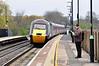 43384 + 43366 working the 0606 Edinburgh - Plymouth into Tamworth Station. Thurs 25.04.13