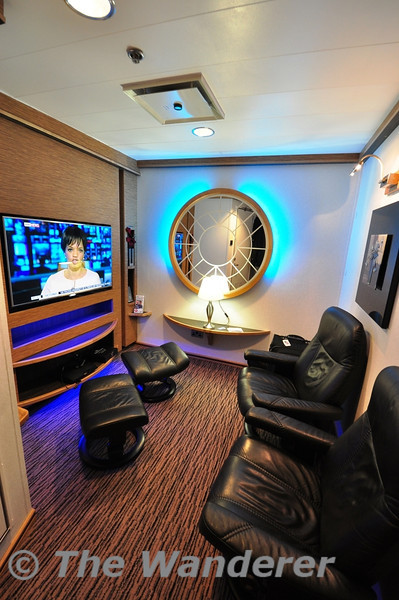The 2 person private lounge onboard the MV Stena Nordica during the 0215 Dublin - Holyhead sailing. Thurs 25.04.13