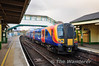 450120 waits to depart Alton with the 2015 to London Waterloo. Sat 27.04.13