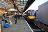 The leader of the First Scotrail fleet of Turbostars, 170401 arrives at Perth with the 1810 Glasgow Queen Street - Elgin. Sun 28.04.13