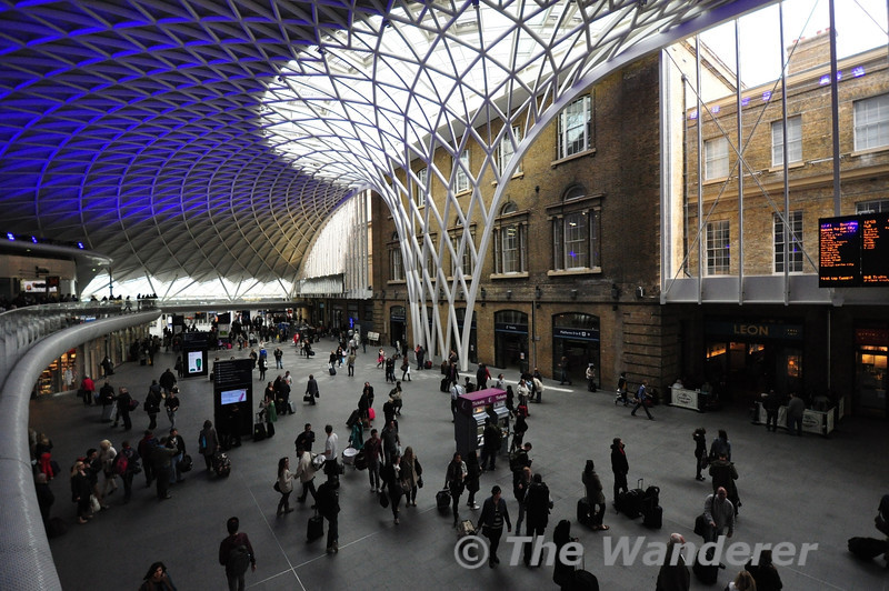 The new Kings Cross Departures area. Sun 28.04.13