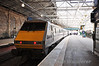 91129 after arriving at Edinburgh with the  1300 from London Kings Cross. Sun 28.04.13